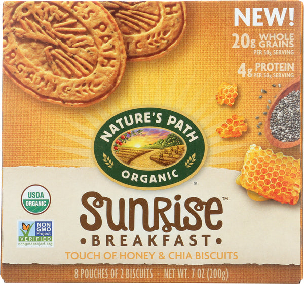 Natures Path: Sunrise Touch Of Honey & Chia Breakfast Biscuits, 7 Oz