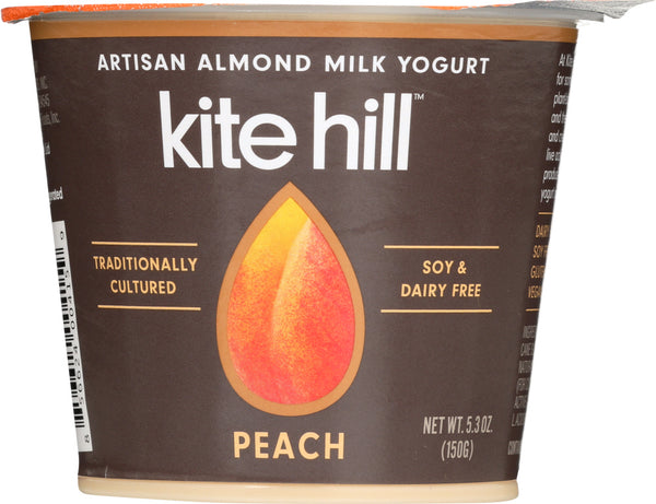 Kite Hill: Almond Milk Peach Yogurt, 5.3 Oz