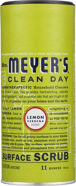 Mrs. Meyer's: Clean Day Surface Scrub Lemon Verbena Scent, 11 Oz