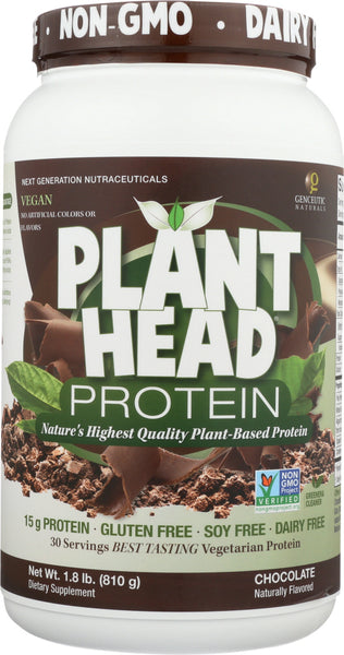 Plant Head: Protein Powder Chocolate, 1.8 Lbs