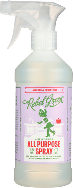 Rebel Green: Spray All Purpose Lavendar, 16 Oz