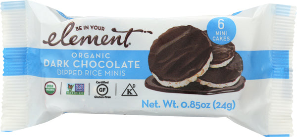 Element Snacks: Organic Dark Chocolate Dipped Rice Minis, 0.85 Oz