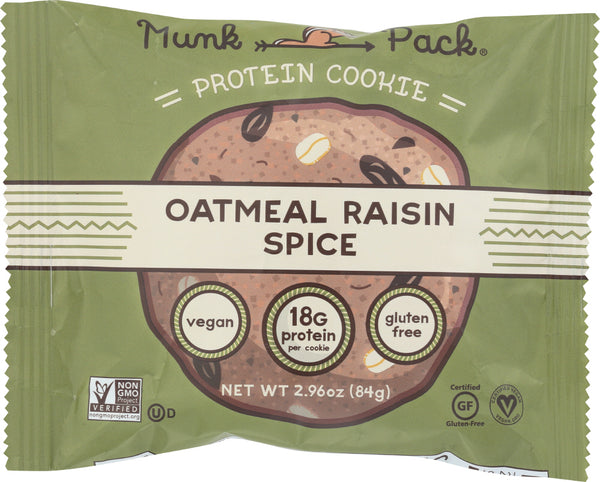 Munk Pack: Cookie Protein Oatmeal Raisin, 2.96 Oz