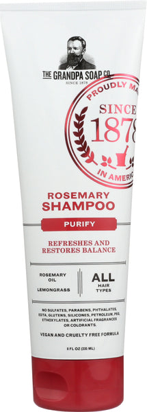 Grandpas: Shampoo Rosemary, 8 Oz