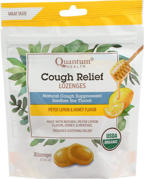 Quantum: Lozenges Cough Relief Lemon And Honey Organic, 18 Ea