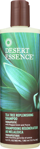 Desert Essence: Shampoo Tea Tree Replenishing, 12 Fl Oz