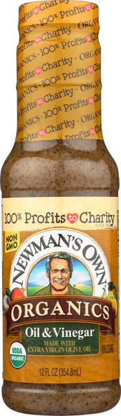 Newmans Own: Olive Oil Vinegar Dressing, 12 Oz