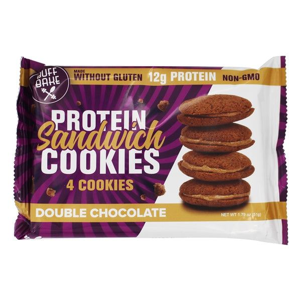 Buff Bake: Protein Sandwich Cookies Double Chocolate, 1.79 Oz