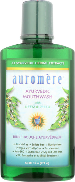 Auromere: Mouth Wash Ayurvedic 16 Fo
