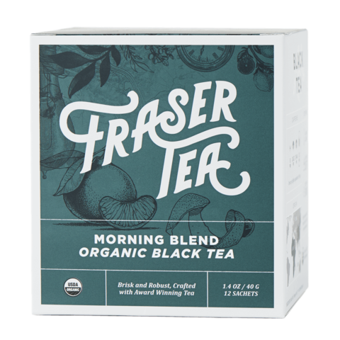Fraser Tea: Tea Morning Blend Black Organic, 1.4 Oz