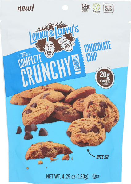 Lenny & Larrys: Crunchy Cookies Chocolate Chip, 4.25 Oz