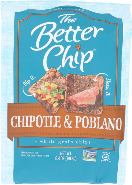 The Better Chip: Tortila Chipotle Poblano Chip, 6.4 Oz