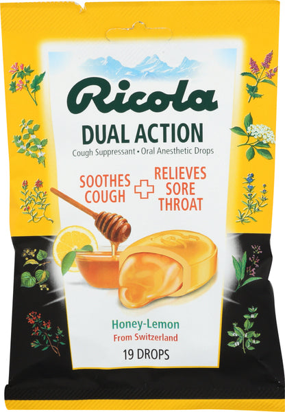 Ricola: Cough Drops Honey Lemon, 19 Pc