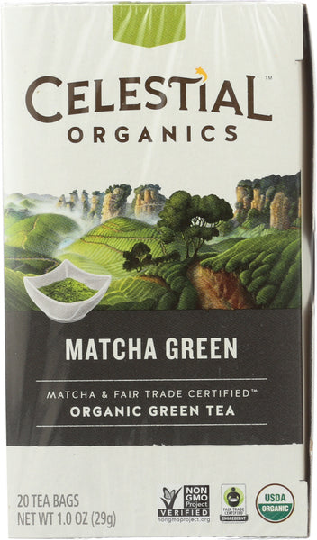Celestial Seasonings: Tea Herb Matcha Green Organic, 20 Bg