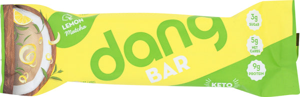 Dang: Lemon Matcha Plant Based Keto Bar, 1.4 Oz