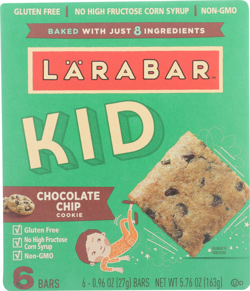 Larabar: Kids Chocolate Chip Cookie Bar, 5.76 Oz