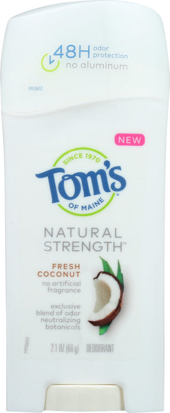 Toms Of Maine: Deodorant Natural Strength From Coconut, 21 Oz