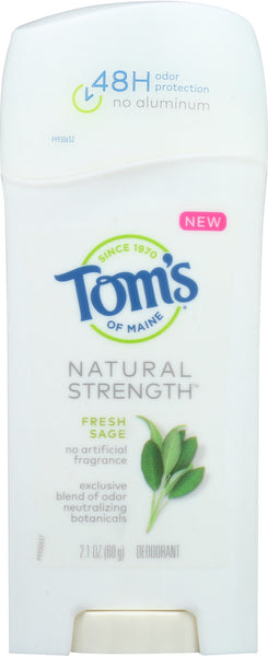 Toms Of Maine: Fresh Sage Natural Strength Deodorant, 2.1 Oz