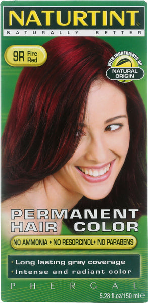 Naturtint: Permanent Hair Color 9r Fire Red, 5.28 Oz