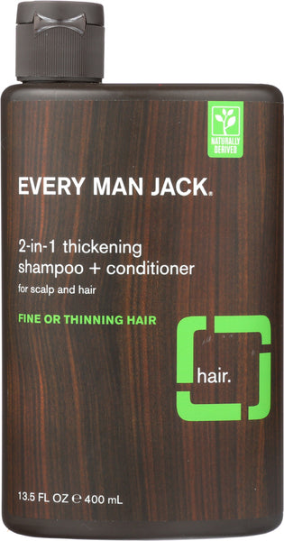 Every Man Jack: 2-in-1 Thickening Shampoo + Conditioner, 13.5 Oz