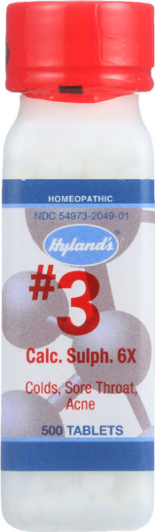 Hylands: No.3 Calcium Sulphate 6x Homeopathic Remedy 6x, 500 Tablets