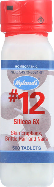 Hyland's: No.12 Silicea 6x, 500 Tablets