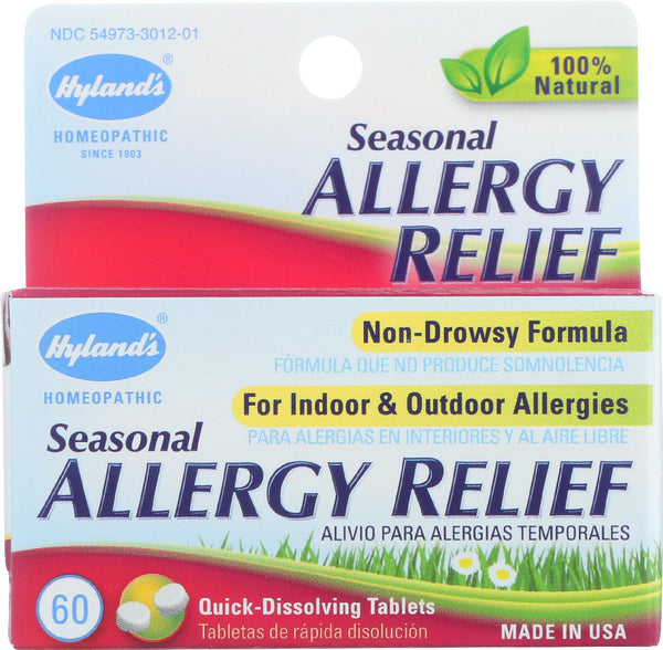 Hyland's: 100% Natural Homeopathic Seasonal Allergy Relief, 60 Tablets