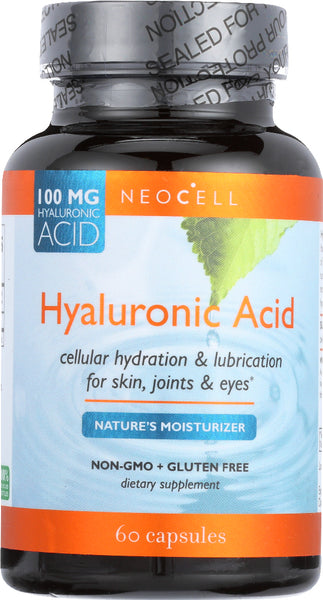 Neocell: Hyaluronic Acid Nature Moisturizer 100 Mg Dietary Supplement, 60 Capsules