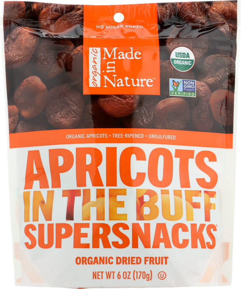 Made In Nature: Organic Tree Ripened Apricots, 6 Oz
