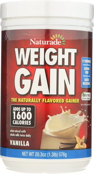 Naturade: Weight Gain Instant Nutrition Drink Mix Vanilla, 20.3 Oz