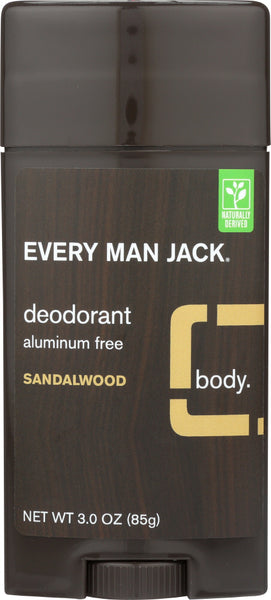 Every Man Jack: Sandalwood Deodorant Stick, 3 Oz