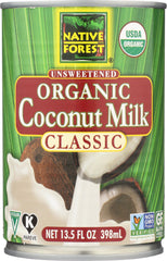 Native Forest: Organic Classic Coconut Milk Unsweetened, 13.5 Oz
