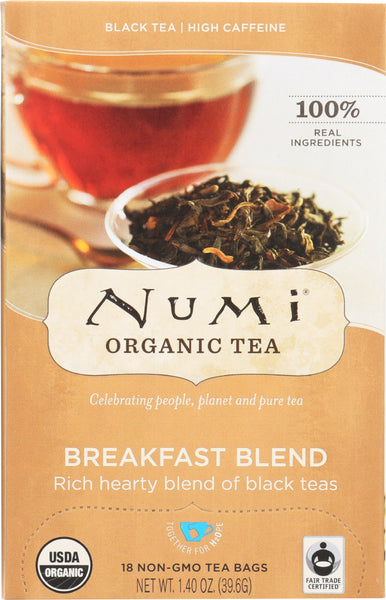 Numi Teas: Morning Breakfast Blend Black Tea, 18 Bg
