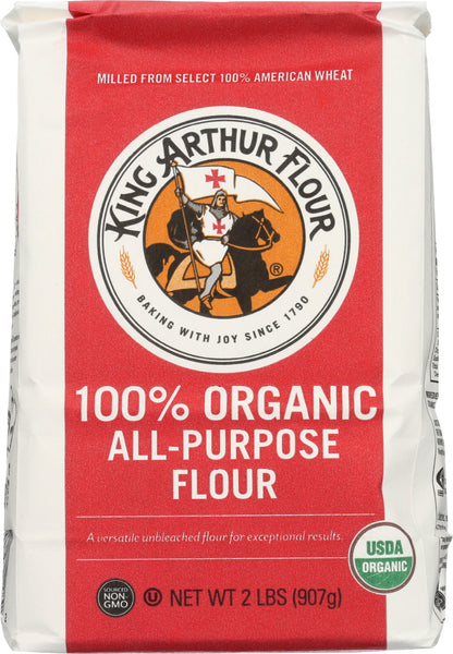King Arthur: Organic All Purpose Artisan Flour, 2 Lb