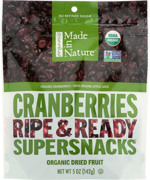 Made In Nature: Organic Dried Fruit Cranberries, 5 Oz