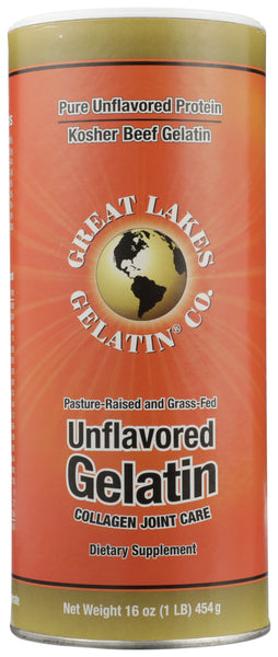 Great Lakes: Beef Hide Gelatin Collagen Joint Care Unflavored, 1 Lb
