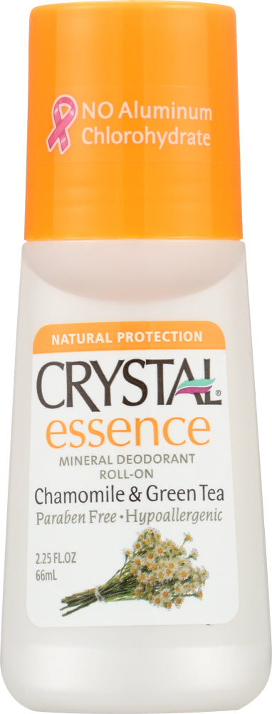 Crystal Body Deodorant: Deodorant Roll-on Chamomile & Green Tea, 2.25 Oz