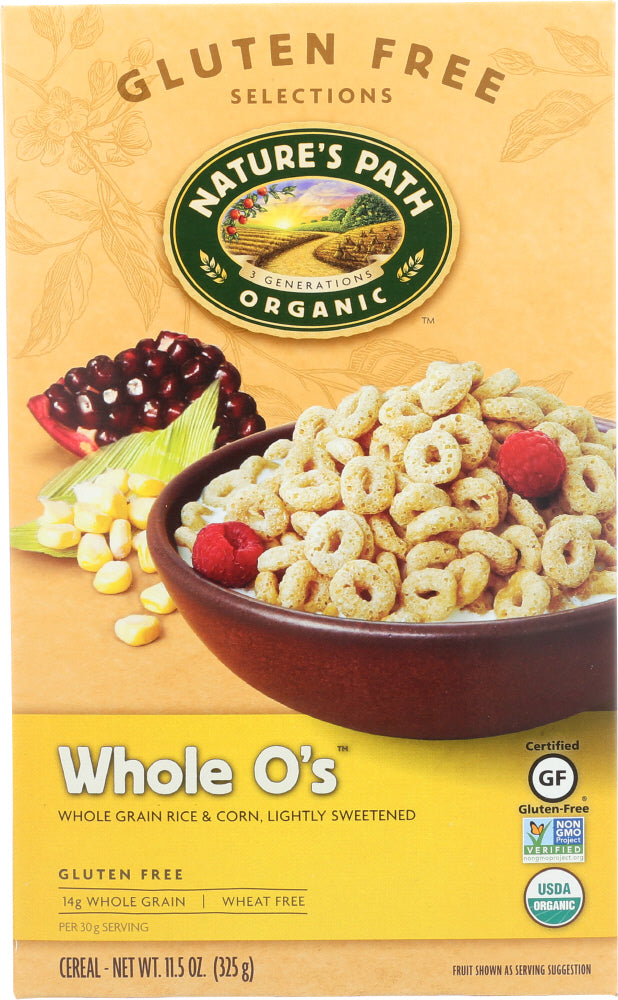 Natures Path: Organic Whole O's Cereal Gluten Free, 11.5 Oz