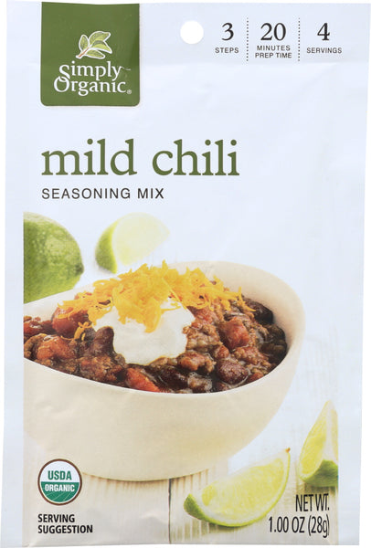 Simply Organic: Mix Chili Mild Organic, 1 Oz