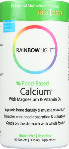 Rainbow Light: Food-based Calcium With Magnesium & Vitamin D3, 90 Tablets