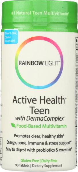 Rainbow Light: Active Health Teen With Derma Complex Food-based Multivitamin, 90 Tablets