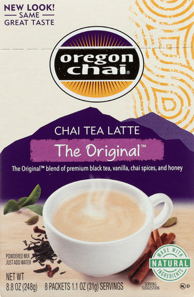 Oregon Chai: The Original Chai Tea Latte Powdered Mix, 8 Pc