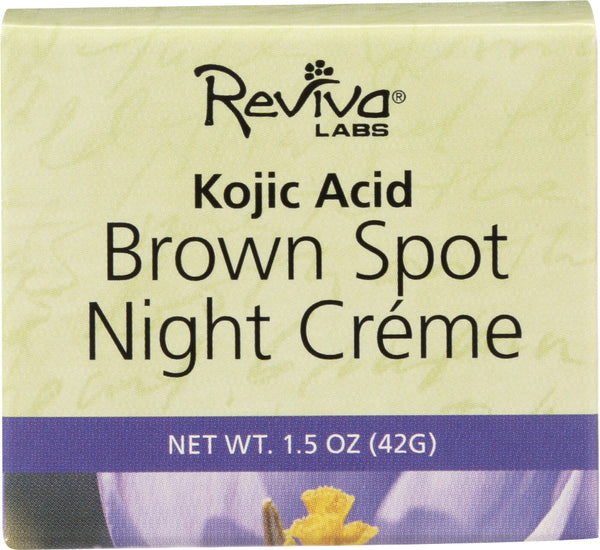 Reviva Labs: Brown Spot Night Cream With Kojic Acid, 1.5 Oz