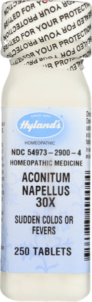 Hyland: Aconitum 30x, 250 Tablets