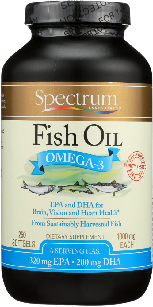 Spectrum Essential: Fish Oil Omega-3 1000 Mg, 250 Softgels