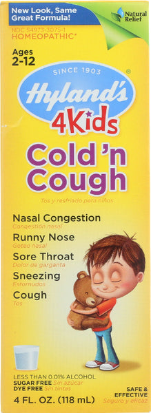 Hyland's: 4 Kids Cold 'n Cough, 4 Oz