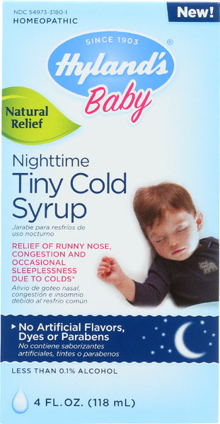 Hyland's: Baby Nighttime Tiny Cold Syrup, 4 Oz