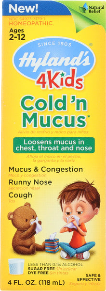 Hyland's: 4 Kids Cold 'n Mucus, 4 Oz