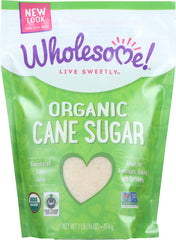 Wholesome Sweeteners: Organic Cane Sugar Evaporated Cane Juice, 16 Oz