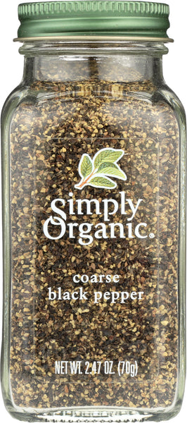 Simply Organic: Black Coarse Grind Pepper, 2.47 Oz